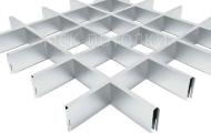 Грильято СТАНДАРТ 120x120 h=40, алюминий серебристый