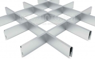 Грильято СТАНДАРТ 150x150 h=40, алюминий серебристый