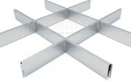 Грильято СТАНДАРТ 200x200 h=40, алюминий серебристый