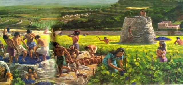 Работа античных виноградарей