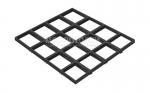 Грильято CL15 Profi металлик матовый 150х150