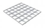 Грильято GL15 металлик серебристый 100х100