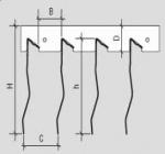 Реечный потолок Cesal Art L100, канадский дизайн