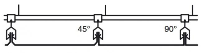 Кромки «AC» кассетного потолка Албес