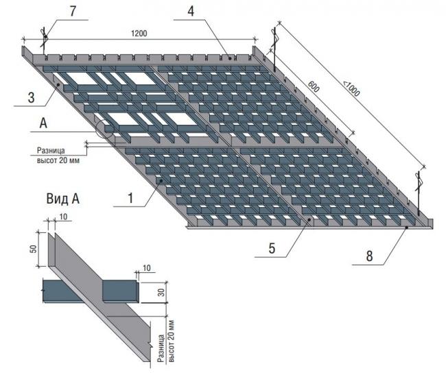 Схема сборки Грильято Разноуровневый
