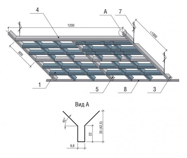 Схема сборки Грильято Пирамидальный