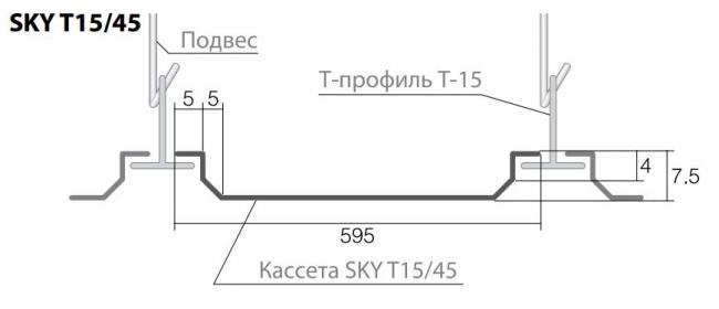 Кромка потолка SKY Т15/45