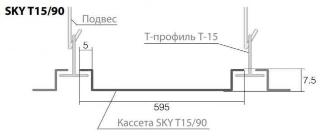 Кромка потолка SKY Т15/90
