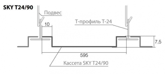 Кромка потолка SKY Т24/90