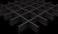 Грильято 100x100 чёрный, h=40